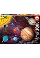 Puzzle 1000 Sistème Solaire Néon Educa 14461