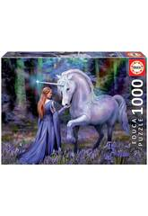 Puzzle 1000 Bluebell Woods, Anne Stokes Educa 18494