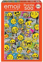 Puzzle 500 Emoji Graffiti Educa 18485