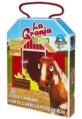 La Fattoria di Zenon Gioca e Impara con Il Cavallo Percherón Bandai EB81204