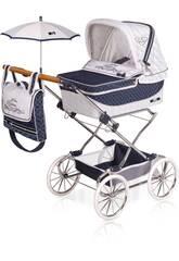 Chariot de Poupée Reborn Classic Romantic Pliant avec Parasol DeCuevas 82037