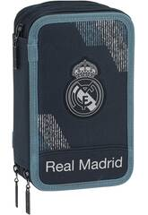 Plumier Triple 41 pièces Real Madrid Dark Safta 411834057