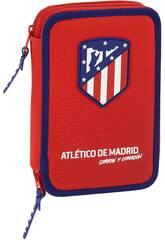 Plumier Double 34 Pièces Atlético de Madrid Safta 411858054