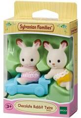 Sylvanian Families Jumeaux Lapin Chocolat Epoch Para Imaginar 5420
