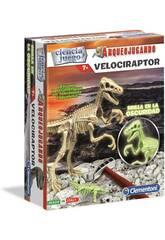 Arqueojugando Velociraptor Fosforescente Clementoni 55352