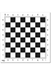 Xadrez e Damas Profissional Tabuleiro de Plástico 45x45 cm. Cayro T90/2