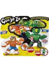 Heroes Of Goo Jit Zu Pack 2 Figuras Tygor Vs Viper Bandai 41017