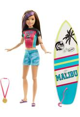 Barbie Soeur Athlète Surf Mattel GHK36