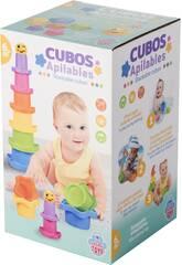 Cubes Empilables avec Balle 4.5 cm.