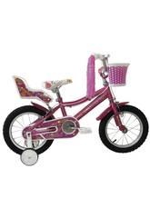 Bicicleta 14 Lydia con Cesta y Portamuñecas Umit J1461