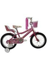Bicicleta de 16 Lydia con Cesta y Portamuñecas Umit J1661