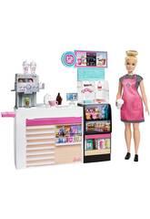 Barbie Cafétéria avec des Accessoires Mattel GMW03