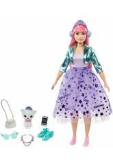 Barbie Princess Adventure con Cucciolo e Accessori Mattel GML77