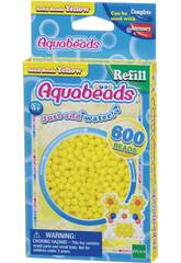 Aquabeads Pack Perles Solides Jaune Apoch Para Imaginar 32528