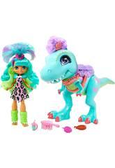 Cave Club Tyrasaurus y Muñeca Rockele Mattel GTL69