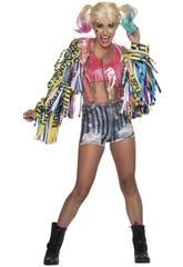 Costume Donna Harley Quinn Birds of Pray XS Rubies 701811-XS