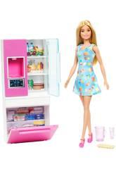 Barbie Mobilier Réfrigérateur Mattel GHL84