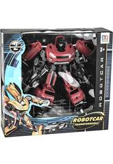 Robot Transformable Auto Warrior Rojo