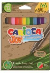 Pack Marcador Eco Joy 12 Cores Carioca 43100
