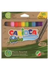 Pack Marqueur Eco Jumbo 12 Couleurs Carioca 43101
