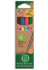 Eco Box 4 Farbenstifte Pack Carioca 43102