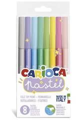 Rotulador Pastel 8 Colores Carioca 43032