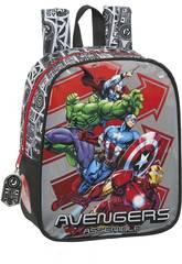 Sac à Dos Garderie Avengers Héroes Adaptable à un Chariot Safta 612079232