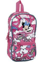 Astuccio Zaino Minnie Mouse con Accessori Safta 412012747