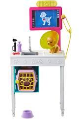 Barbie Clínica Veterinaria Mattel GJL68