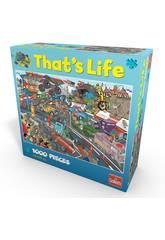 Puzzle 1000 Piezas That's Life Carrera de Coches Goliath 371425