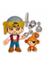 Pinypon Action Figura Pirata Con Scimmia domestica Famosa 700015801