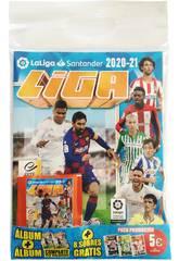 La Ligue Santander Est 2020/2021 Pack Album avec 8 Enveloppes Panini