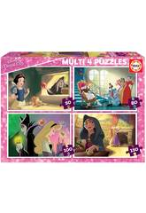 Puzzle Multi 4 Méchants Disney Educa 18626