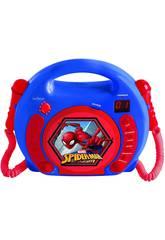 Spiderman Lecteur de CD Portable avec 2 Microphones Lexibook RCDK100SP