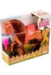 Cavalo Castanho com Pelo Comprido e Escova