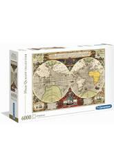 Puzzle 6000 Mapa Antiguo Clementoni 36526