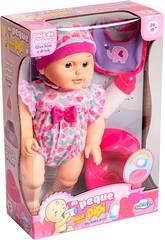 Bebé 30 cm. Rosa Mi Peque Hace Pipí