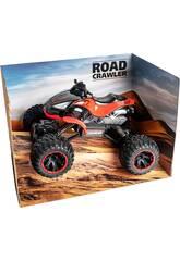 Télécommande 1:14 Quad Crawler Rouge Batterie 7.2 v