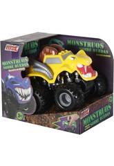 Monster auf Rädern gelbes Reibungsauto