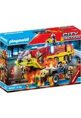 Playmobil City Action Opération de Sauvetage Camion de Pompier 70557