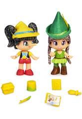 Pinypon Contes Ensemble de 2 Figurines Famosa 700016381