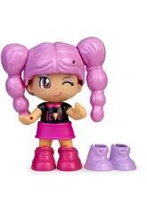 Pinypon Change My Shoes Figura Pelo Púrpura Famosa 700016209