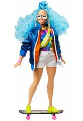 Barbie Extra Curly Blue Hair Mattel GRN30