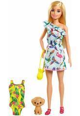Barbie com Mala e Acessórios Mattel GRT87