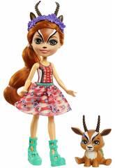 Enchantimals Muñeca Gabriela Gazelle y Spotter Mattel GTM26