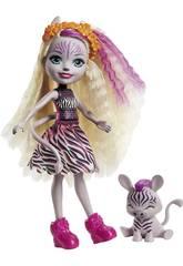 Enchantimals Savane Ensoleillée mini-poupée Zadie Zèbre et Rayure Mattel GTM27
