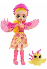 Enchantimals Muñeca Falon Phoenix y Sinrise de Mattel GYJ04