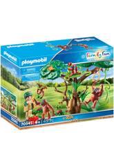 Playmobil Orangutanes con Árbol 70345