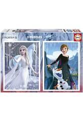Puzzle 2X500 Frozen II von Educa 19016