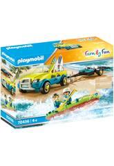 Auto da spiaggia Playmobil con canoa 70436